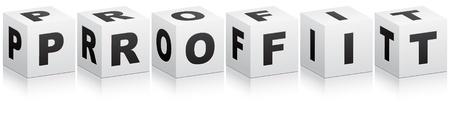 pillar box: profit word