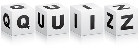 quiz word Illustration