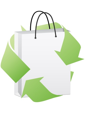 commercial recycling: reusable shopping bag  Illustration