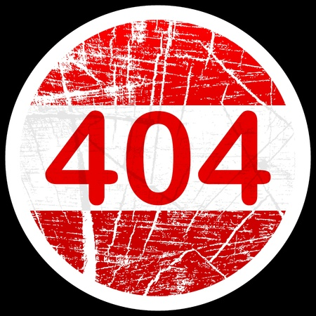 404 error sign Stock Vector - 10451501