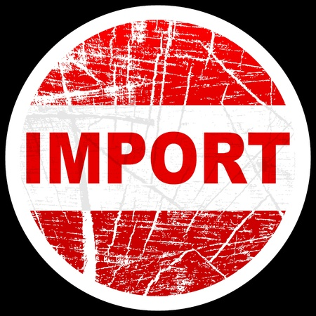 certified stamp: import stamp