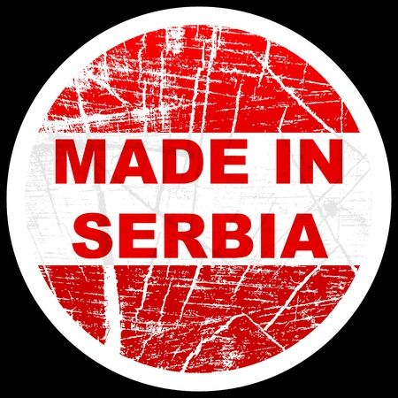made in serbia Vector