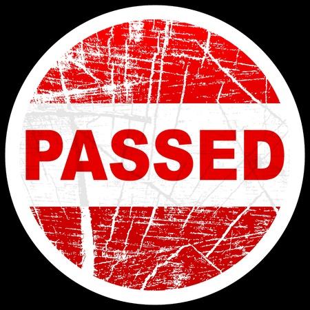 passed: passed stamp
