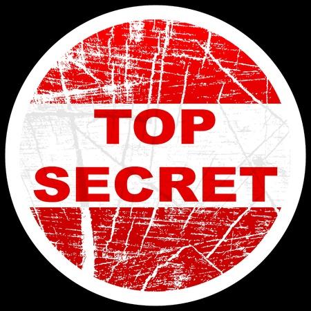 top secret stamp Stock Vector - 10451463