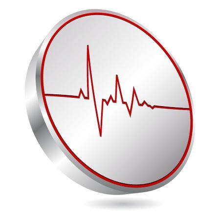 patient: hart puls icoon Stock Illustratie