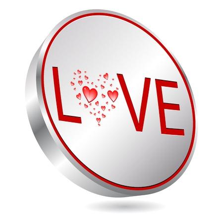 love button Stock Vector - 10451434