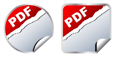 pdf stickers Stock Vector - 10450463
