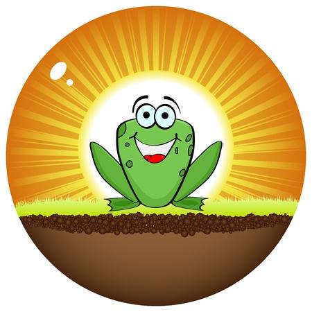 peace stamp: crazy frog  Illustration