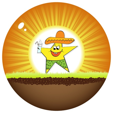 mexican star Vector