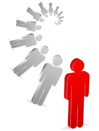 individui: arrangiamento di persone  Vettoriali