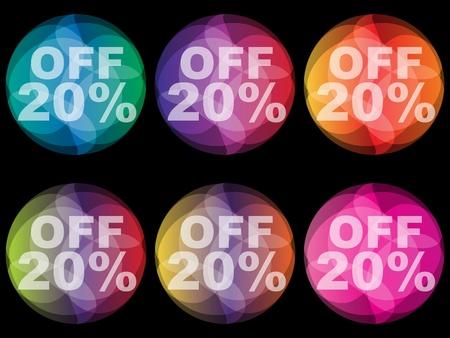 rebate: twenty percent discount