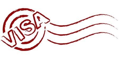 sello de visa Ilustración de vector