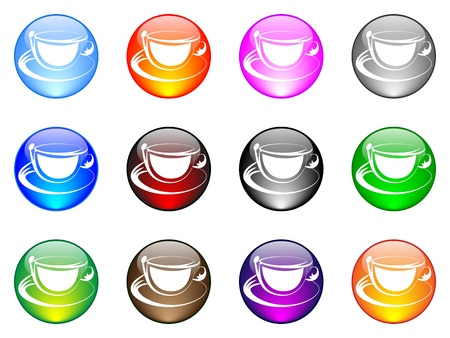 coffee cup button  Stock Vector - 10451564
