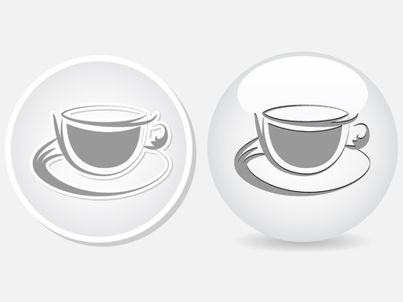 cofe: coffee cup button