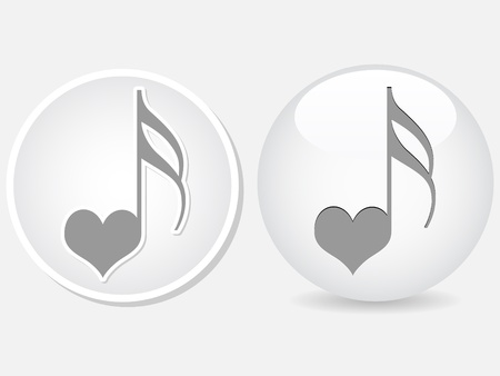 sentimental: song of love button Illustration