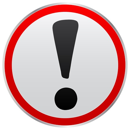 attention sign: Error icon