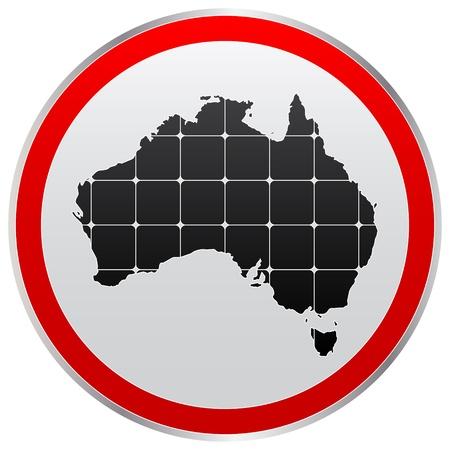 perimeter: australia map