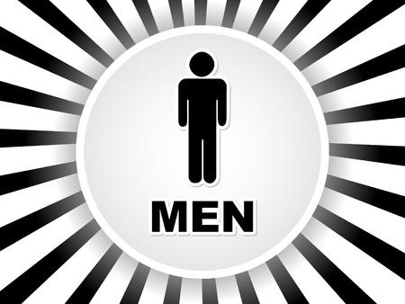 men toilet label  Vector
