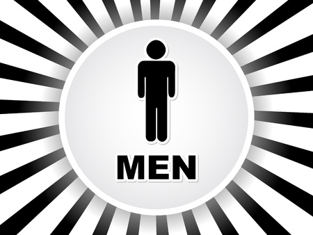toilette: men toilet label