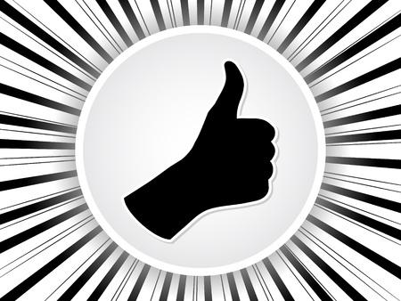 Human hand giving ok button Stock Vector - 10465880