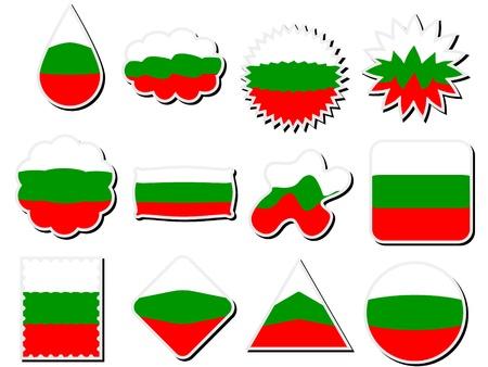 flags of bulgaria Vector