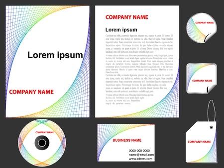 cd label:  Modern letterhead template design  Illustration