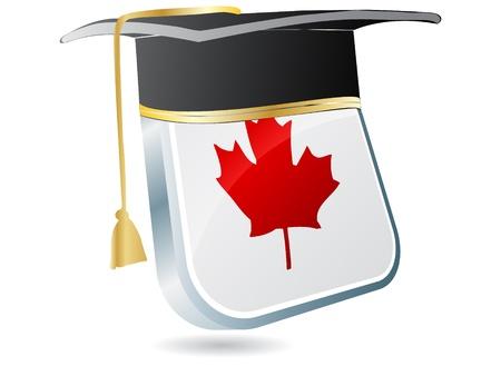 commencement: canadian graduation Illustration