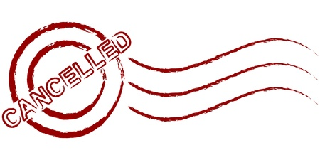 cancelled stamp Stock Vector - 10466752