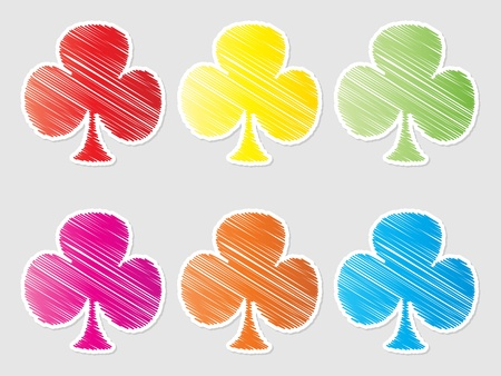 button clover Stock Vector - 10471604