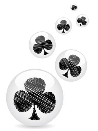 poker clover background Stock Vector - 10471563