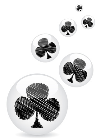 poker clover background Stock Vector - 10471563
