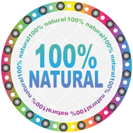 natural button Stock Vector - 10471304