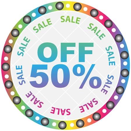 fifty percent discount Vector