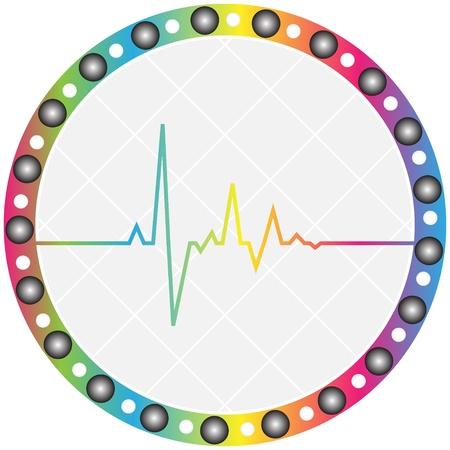 electrocardiograma: coraz�n pulso icono