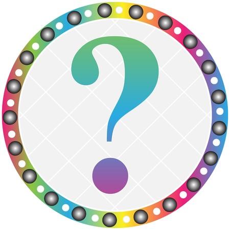 question button Stock Vector - 10466749