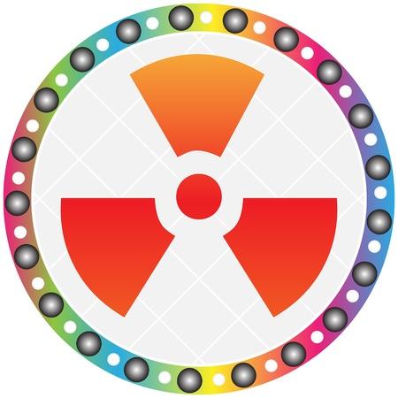 laser radiation: radiation icon