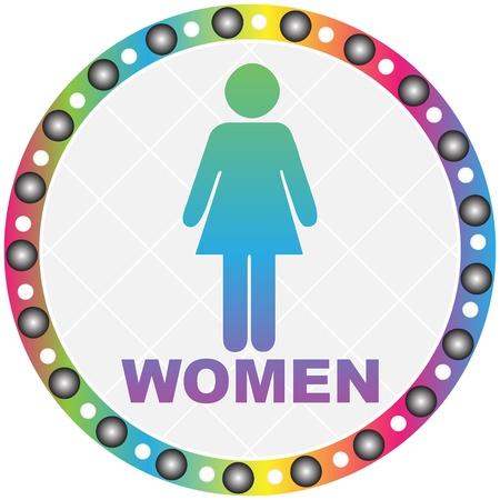women toilet label Stock Vector - 10466834