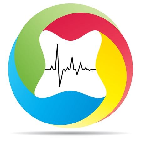 heart pulse icon Vector