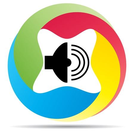 power system: speaker  Illustration