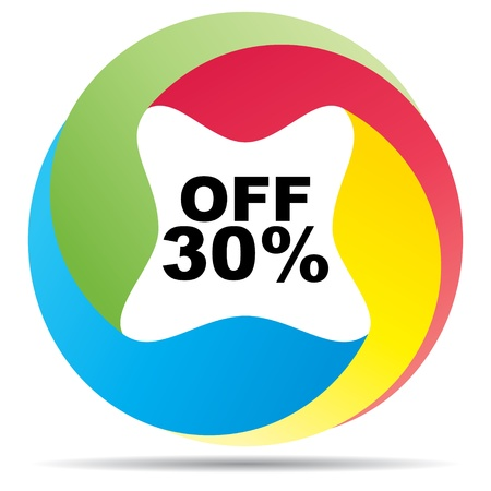 thirty: thirty percent discount  Illustration