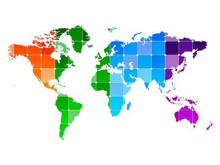 abstract world map Stock Vector - 10471637