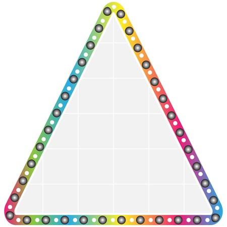 triangle button: bot�n tri�ngulo colorido