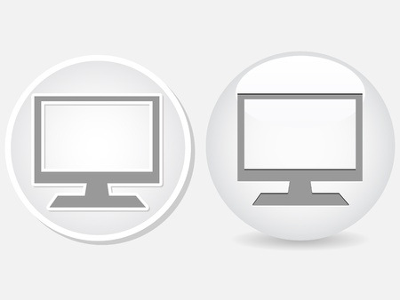 tft: white buttons with monitor Illustration