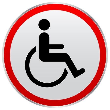 behindert: behinderte Person Zeichen