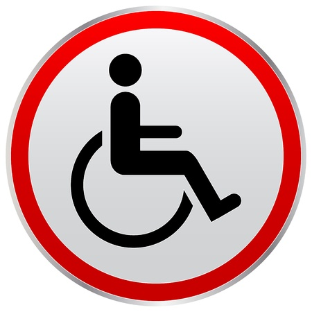 handicapped: disabled person sign