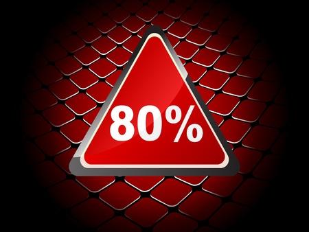 achtzig: 80 Prozent Rabatt Hintergrund Illustration