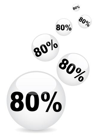 achtzig: 80 Prozent Rabatt Illustration