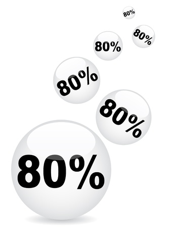 ochenta: ochenta por ciento de descuento