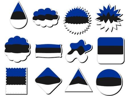 flags of estonia Vector