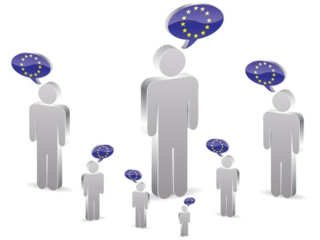 european man chatting